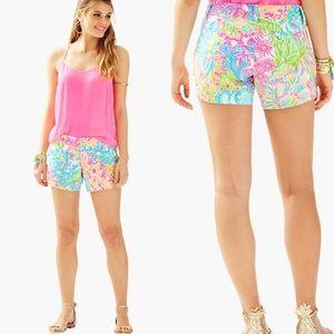 Lilly Pulitzer Lovers Coral Callahan Shorts NWT